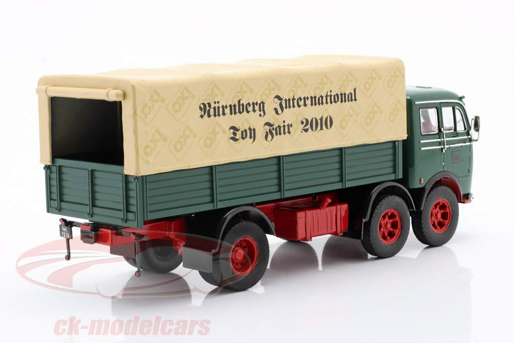 Mercedes-Benz LP 333 Legetøjsmesse Nürnberg 2010 grøn / beige 1:43 Ixo