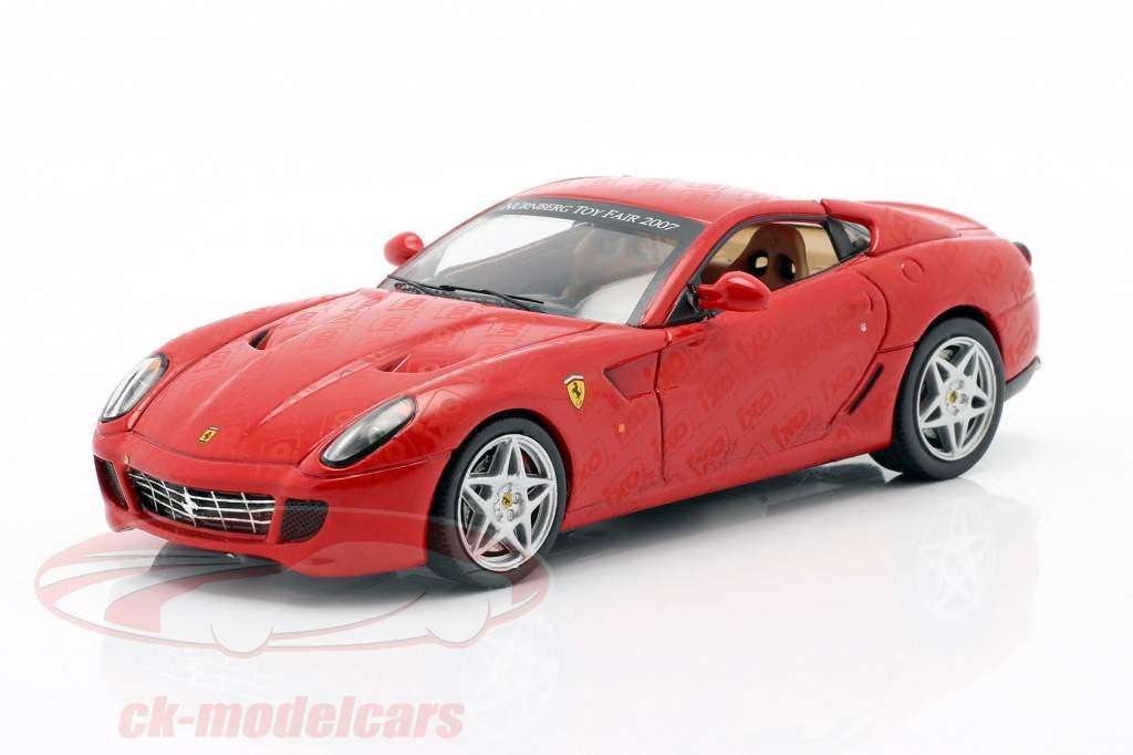 Ferrari 599 GTB Feira de brinquedos Nuremberg 2007 vermelho 1:43 Ixo