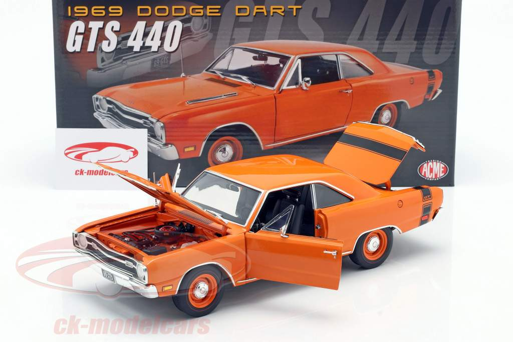 Dodge Dart GTS 440 Baujahr 1969 orange 1:18 GMP