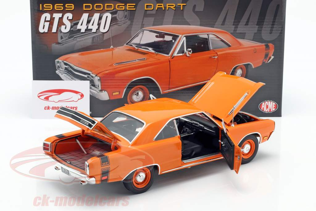 Dodge Dart GTS 440 year 1969 orange 1:18 GMP