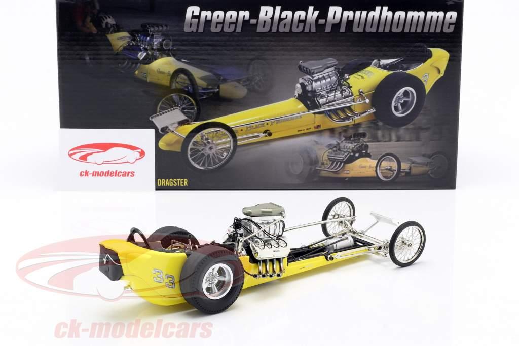 Greer-Black-Prudhomme Vintage Dragster gelb 1:18 GMP