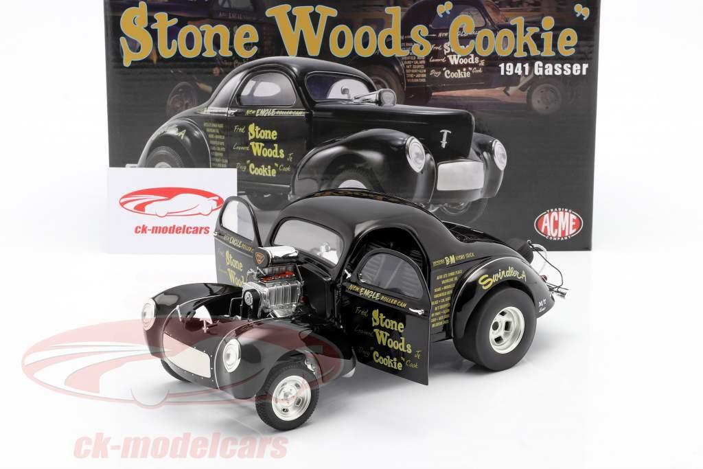 Willys Gasser Stone, Woods & Cook Ano de construção 1941 Preto 1:18 GMP