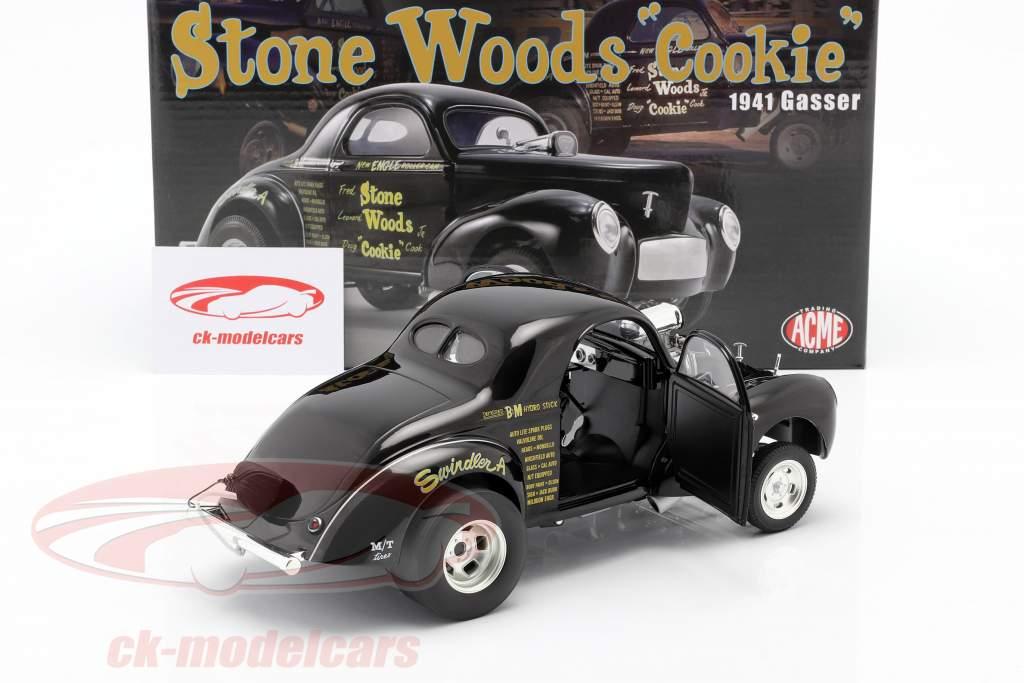 Willys Gasser Stone, Woods & Cook Année de construction 1941 noir 1:18 GMP