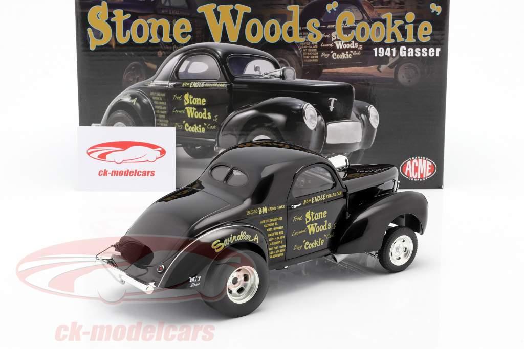 Willys Gasser Stone, Woods & Cook Anno di costruzione 1941 nero 1:18 GMP
