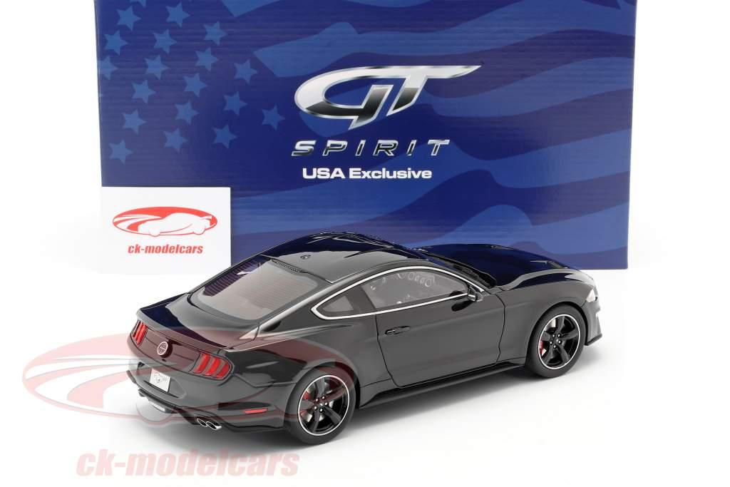 Ford Mustang GT Bullitt Baujahr 2019 schattenschwarz 1:18 GT-Spirit