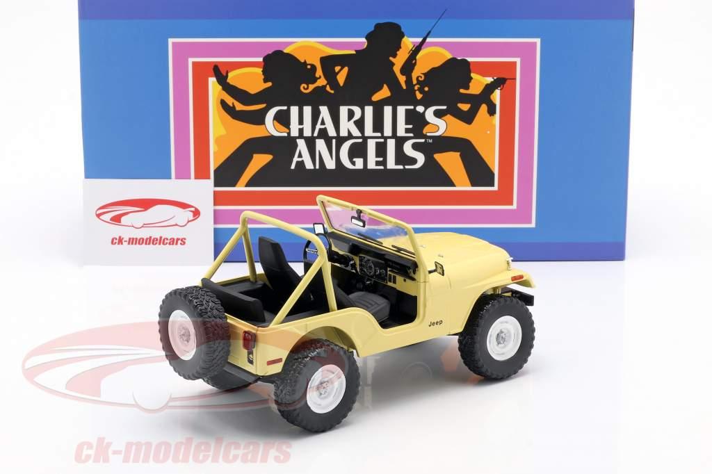 Jeep CJ-5 1980 séries de TV Charlie's Angels (1976-1981) amarelo 1:18 Greenlight