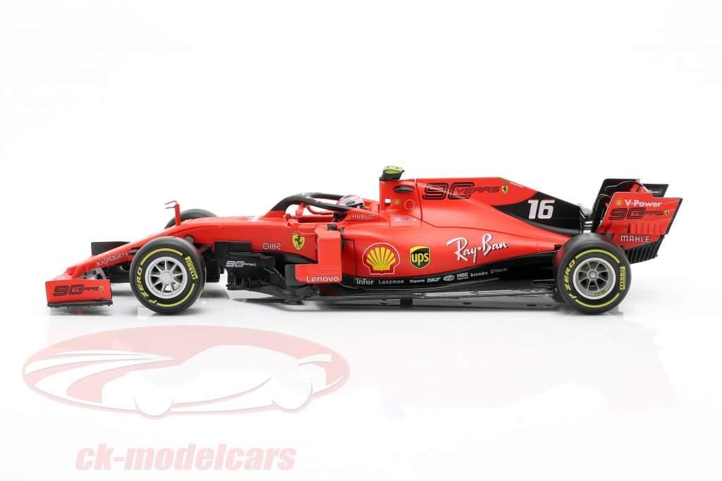 Charles Leclerc Ferrari SF90 #16 Gagnant italien GP formule 1 2019 1:18 Bburago