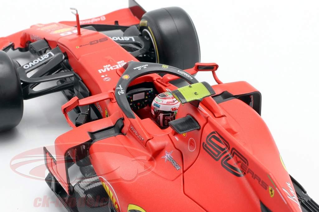 Charles Leclerc Ferrari SF90 #16 Vincitore italiano GP formula 1 2019 1:18 Bburago