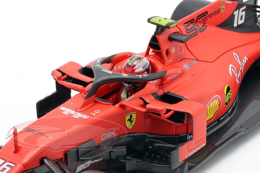 Charles Leclerc Ferrari SF90 #16 Vencedora italiano GP Fórmula 1 2019 1:18 Bburago
