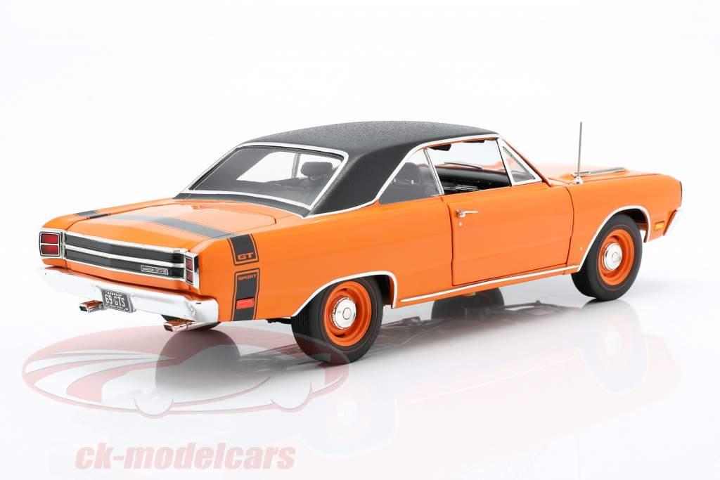 Dodge Dart GTS 440 mit Vinyldach Baujahr 1969 orange / schwarz 1:18 GMP
