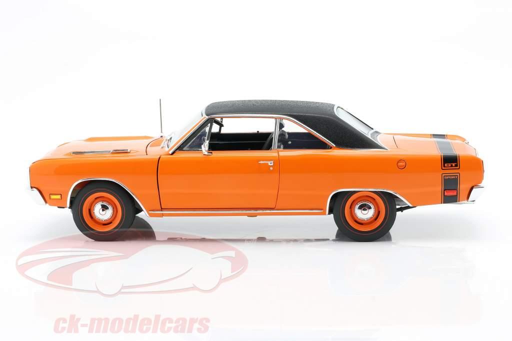 Dodge Dart GTS 440 with vinyl top year 1969 orange / black 1:18 GMP