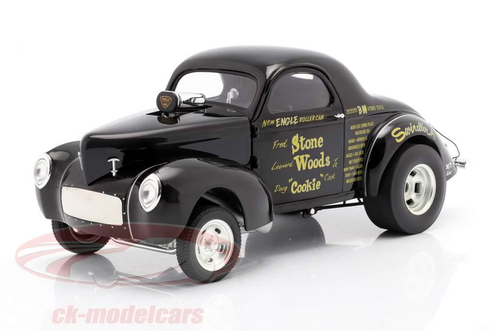Willys Gasser Stone, Woods & Cook Baujahr 1941 schwarz 1:18 GMP