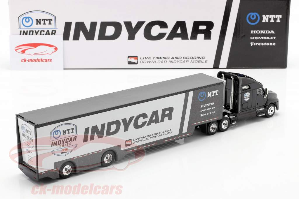 Kenworth T2000 team Transporter Indycar Series 2020 black / silver 1:64 Greenlight