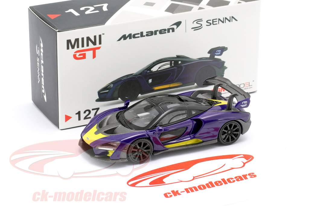 McLaren Senna LHD Baujahr 2018 lila / gelb 1:64 TrueScale