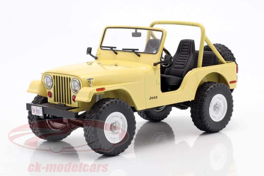 Jeep CJ-5 1980 Series de Televisión Charlie's Angels (1976-1981) amarillo 1:18 Greenlight