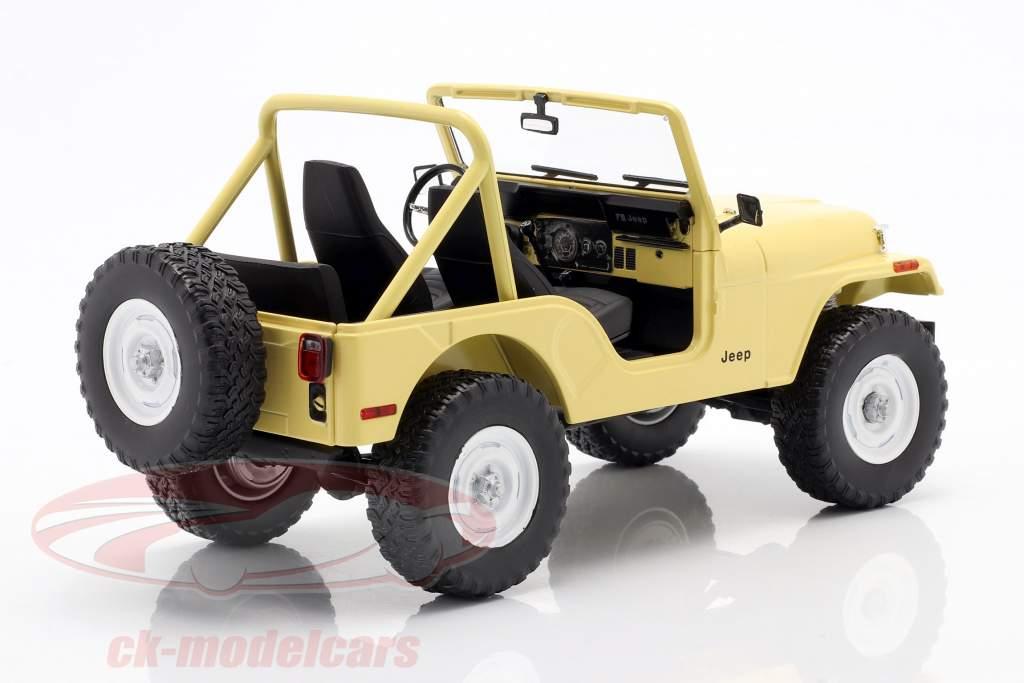 Jeep CJ-5 1980 séries télévisées Charlie's Angels (1976-1981) Jaune 1:18 Greenlight