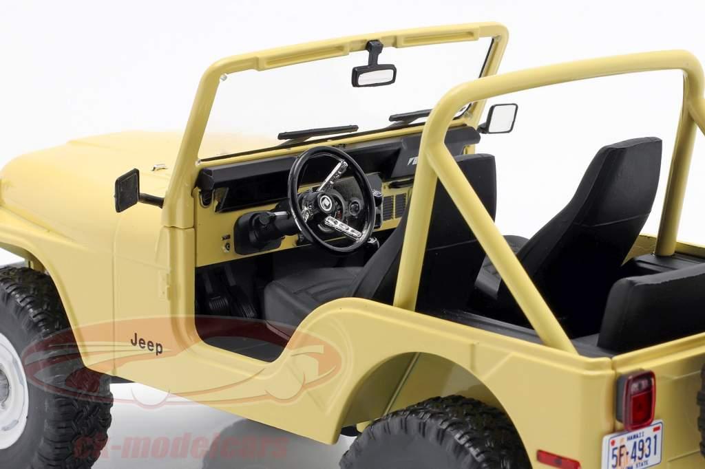 Jeep CJ-5 1980 TV serier Charlie's Angels (1976-1981) gul 1:18 Greenlight