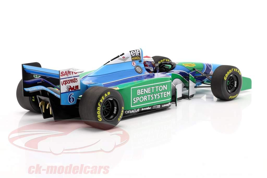 Jos Verstappen Benetton B194 #6 Tercero húngaro GP fórmula 1 1994 1:18 Minichamps