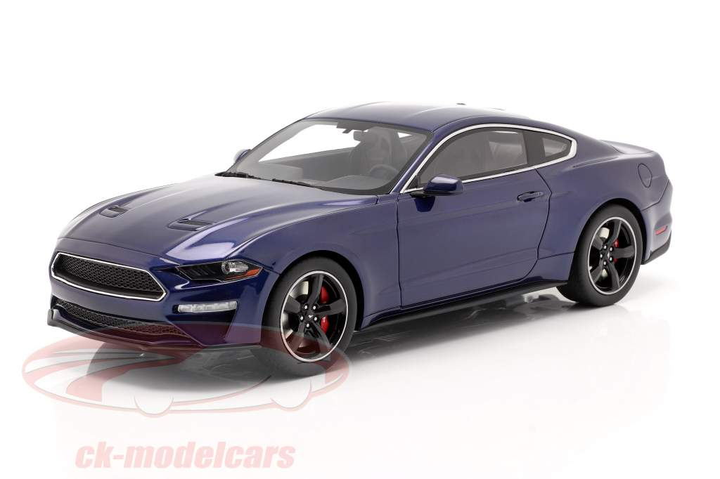 Ford Mustang GT Bullitt Baujahr 2019 kona blau 1:18 GT-Spirit
