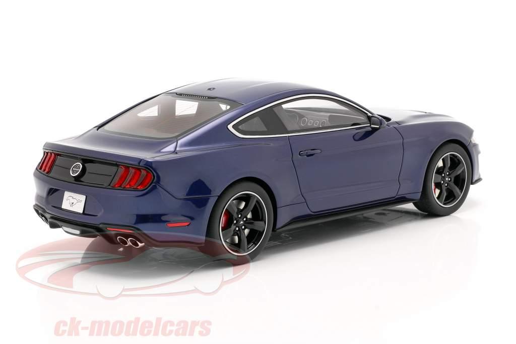 Ford Mustang GT Bullitt year 2019 kona blue 1:18 GT-Spirit