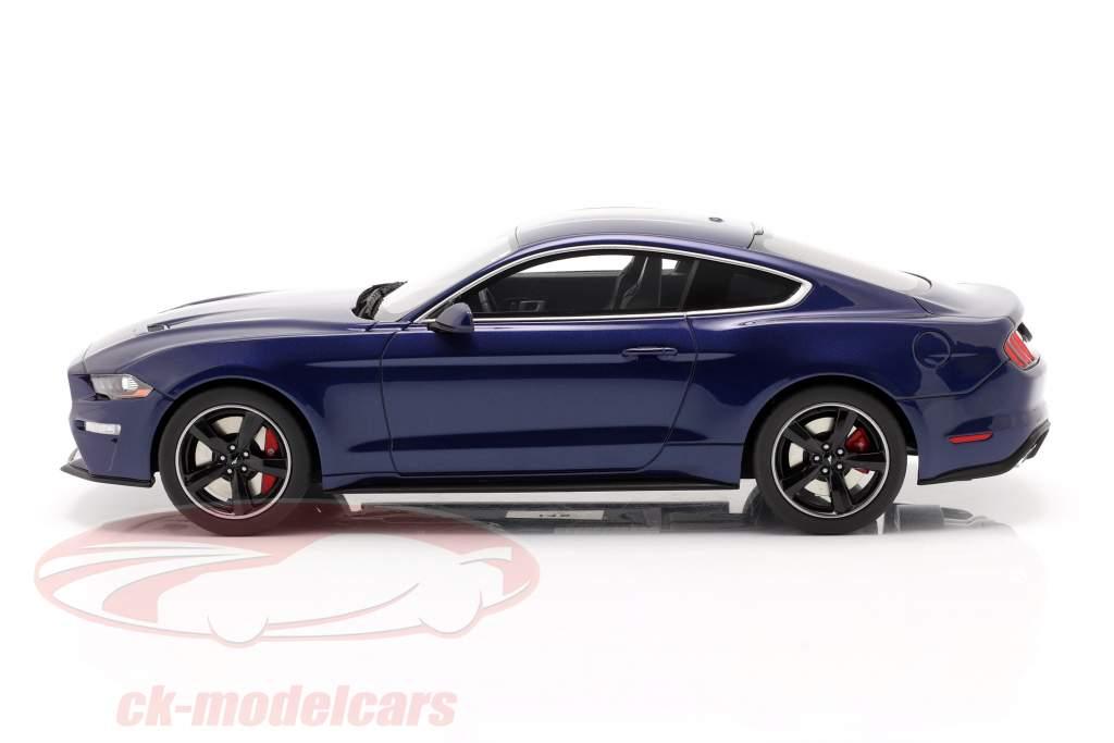 Ford Mustang GT Bullitt Byggeår 2019 kona blå 1:18 GT-Spirit