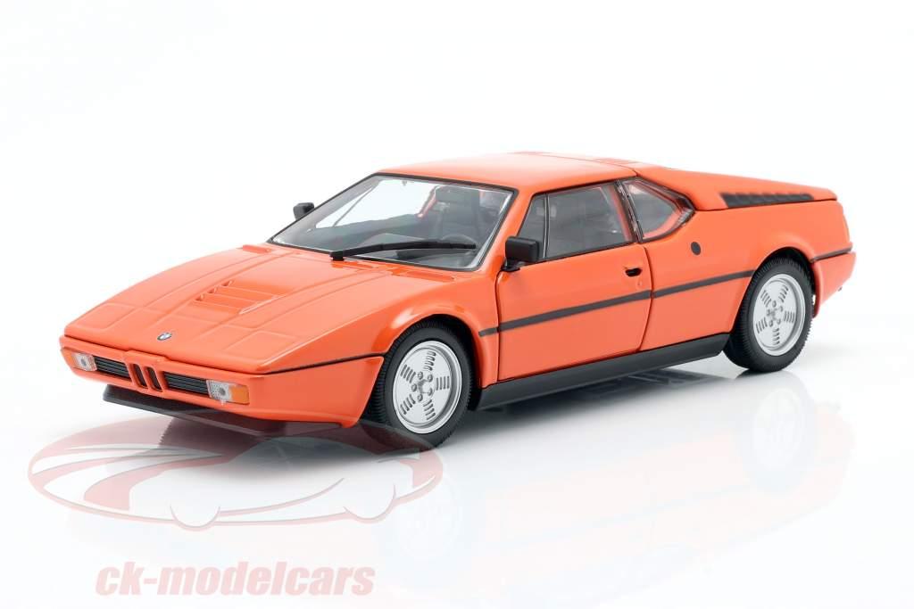 BMW M1 year 1978 orange 1:24 Welly