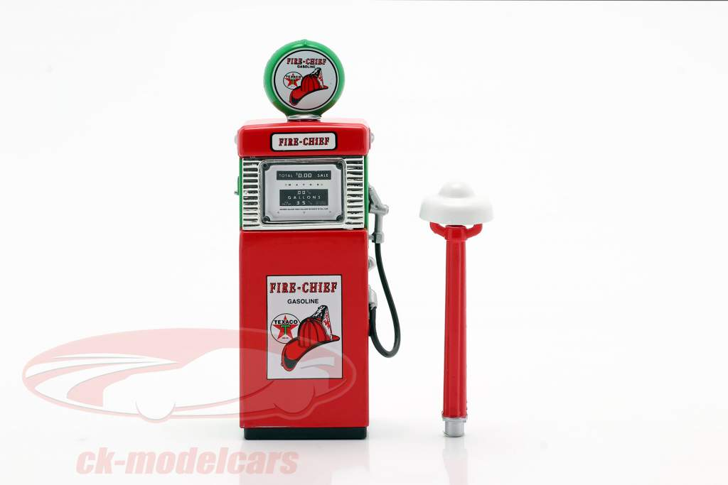 Wayne 505 Texaco Fire Chief gas Pump 1951 red / White / green 1:18 Greenlight