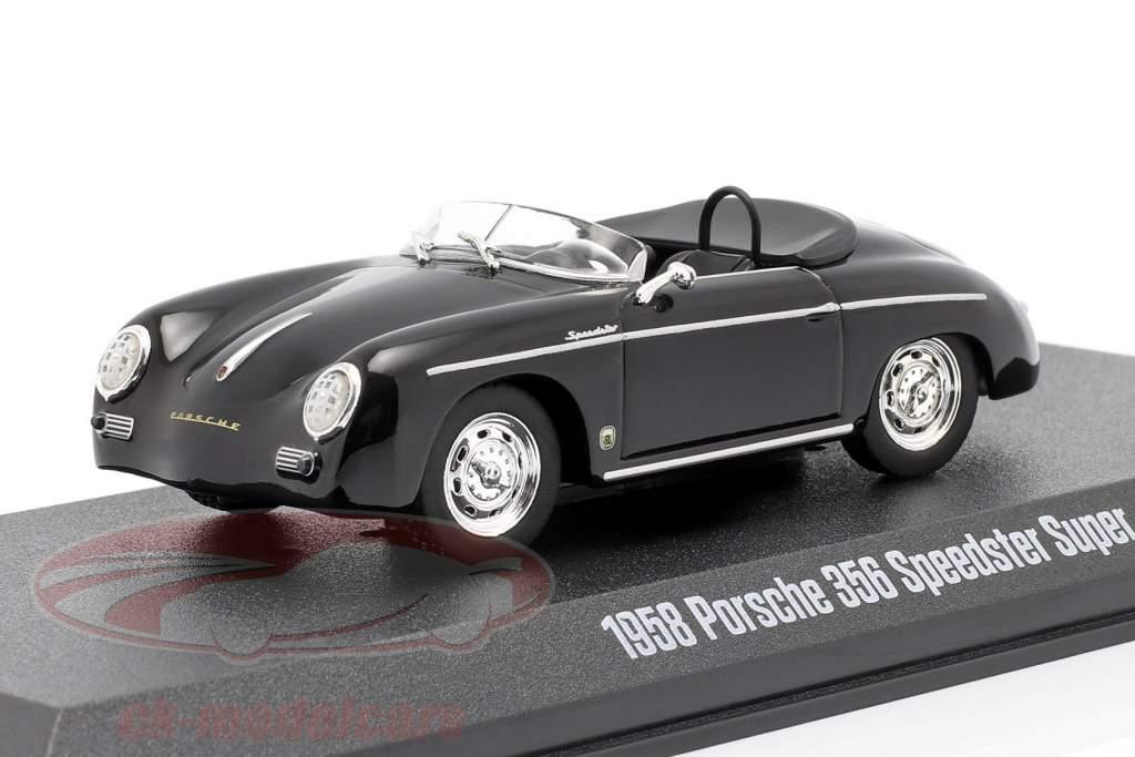 Porsche 356 Speedster Super Open Top year 1958 black 1:43 Greenlight