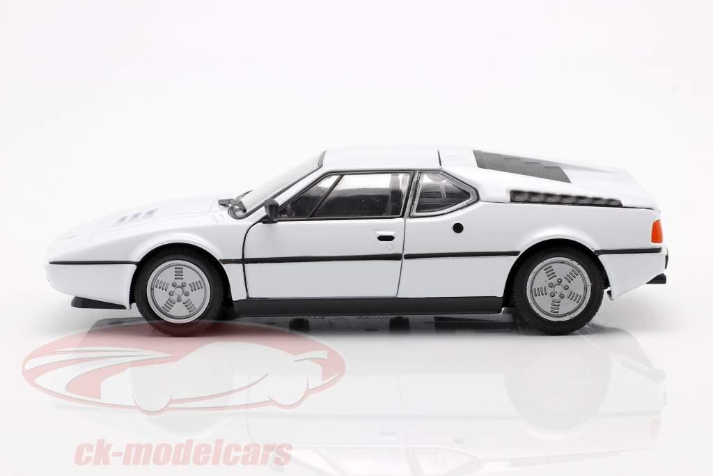 BMW M1 ano 1978 branco 1:24 Welly