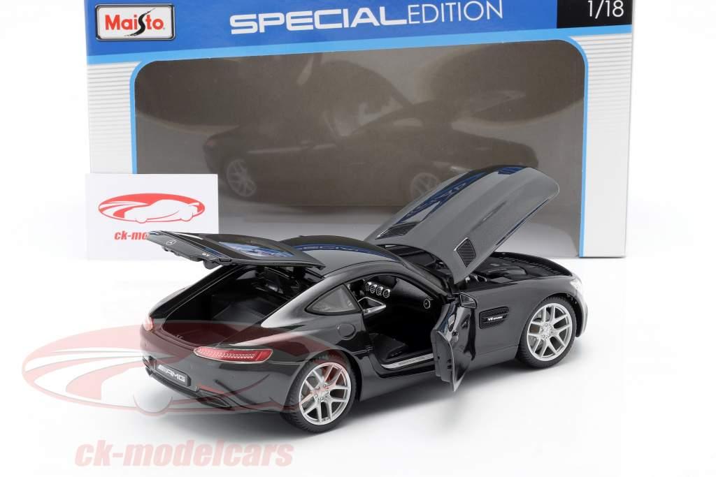 Mercedes-Benz AMG GT (C190) negro metálico 1:18 Maisto