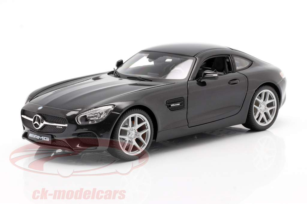 Mercedes-Benz AMG GT (C190) Preto metálico 1:18 Maisto