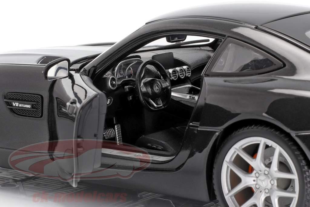 Mercedes-Benz AMG GT (C190) noir métallique 1:18 Maisto