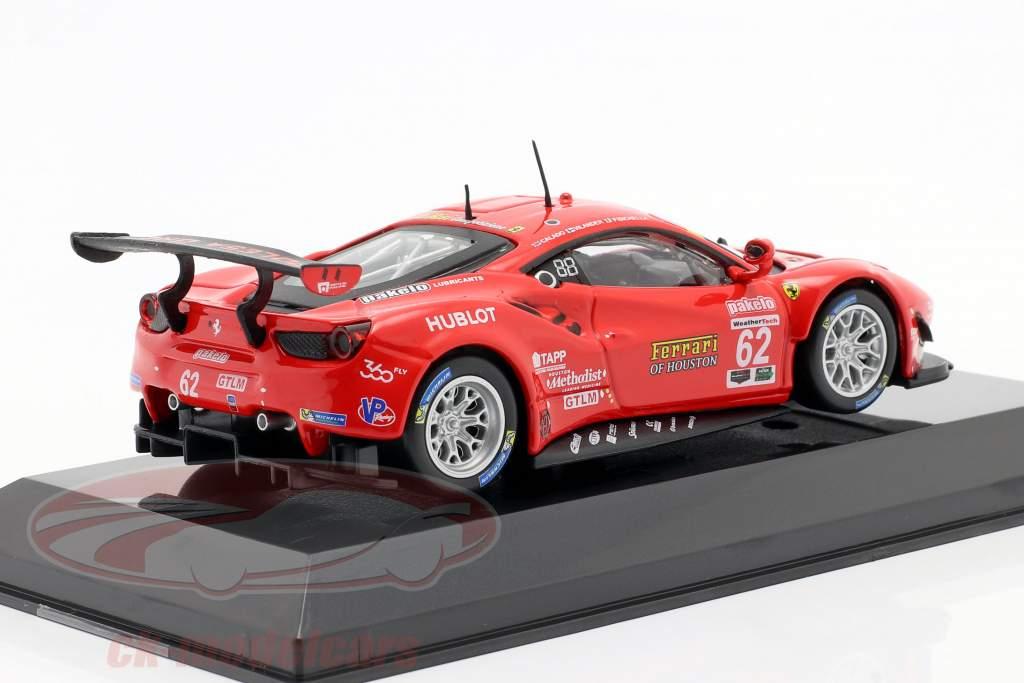 Ferrari 488 GTE #62 第七名 24h Daytona 2017 Fisichella, Vilander, Calado 1:43 Bburago