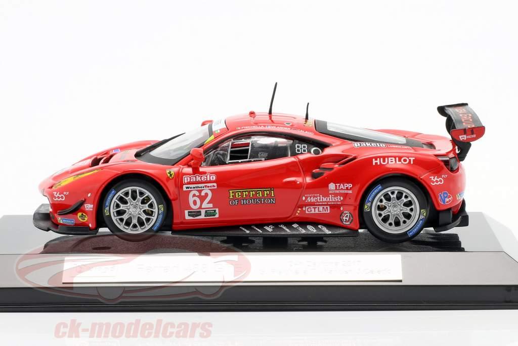 Ferrari 488 GTE #62 Séptimo 24h Daytona 2017 Fisichella, Vilander, Calado 1:43 Bburago
