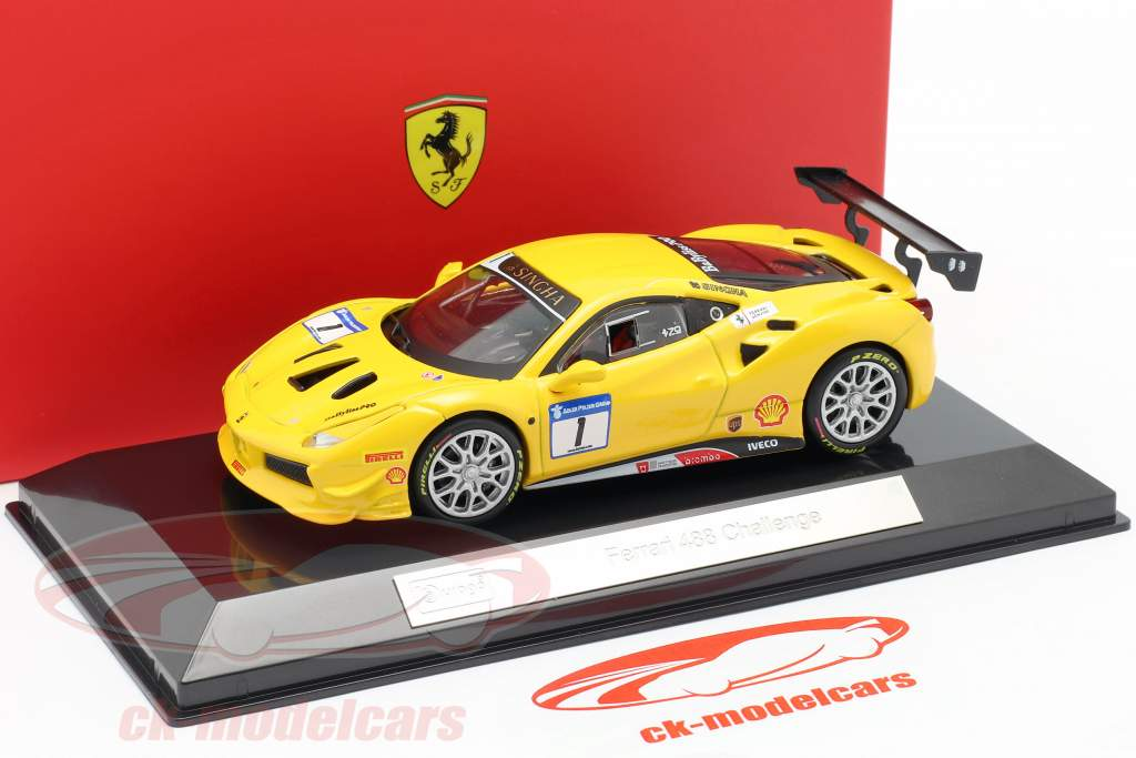 Ferrari 488 Challenge #1 黄色 1:43 Bburago