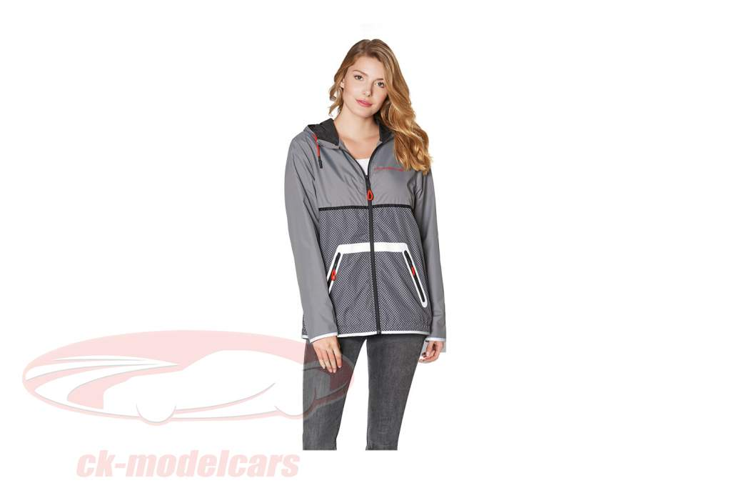 Windbreaker Porsche Racing Collection grau / schwarz / rot