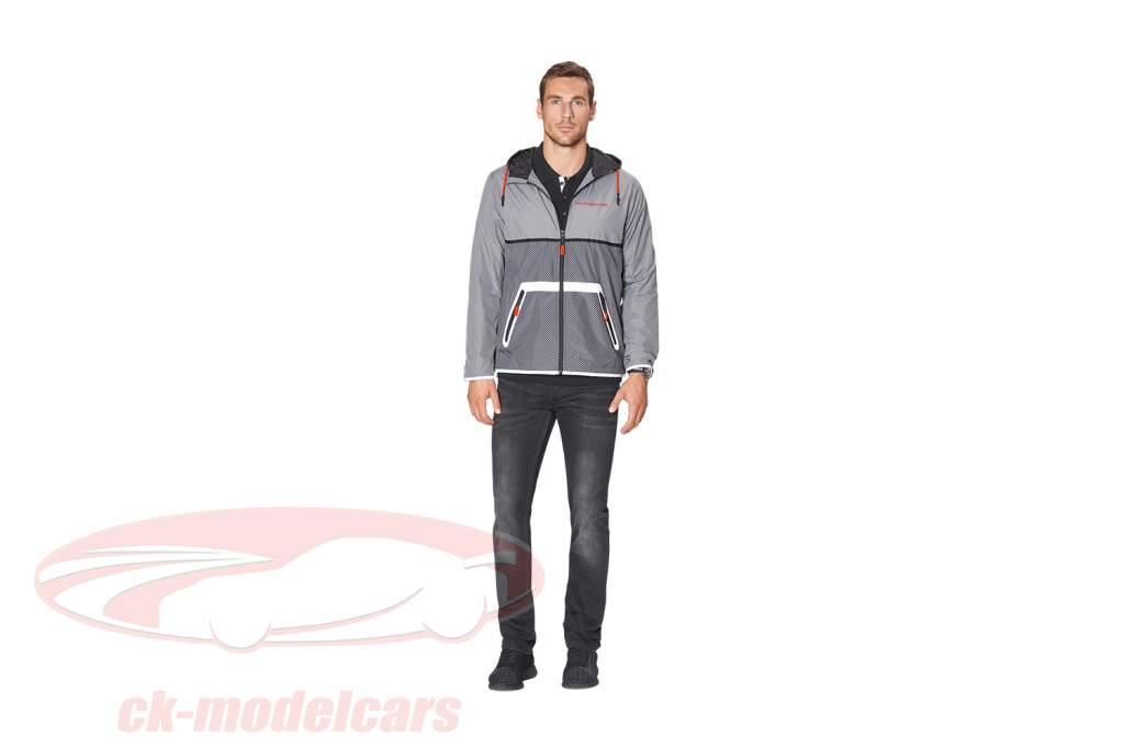Windbreaker Porsche Racing Collection gris / noir / rouge