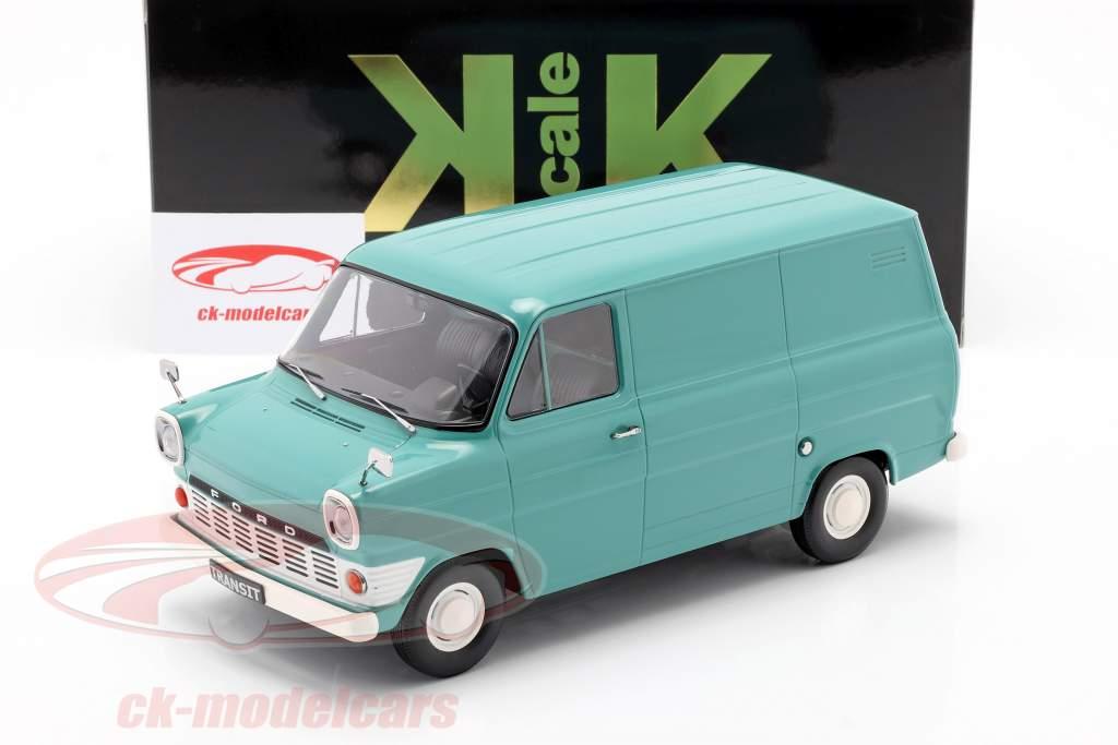Ford Transit MK1 camioneta Año de construcción 1965 turquesa 1:18 KK-Scale