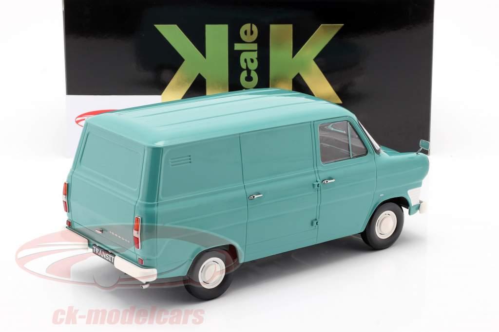 Ford Transit MK1 Van Byggeår 1965 turkis 1:18 KK-Scale