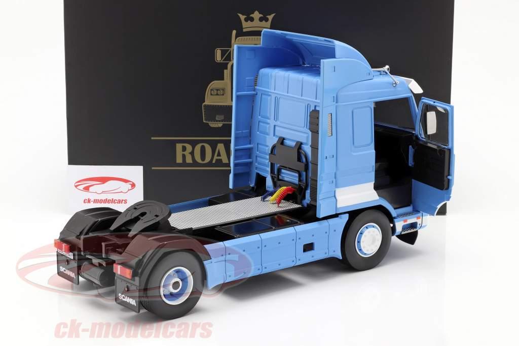 Scania 143 Streamline un camion Année de construction 1995 bleu / blanc 1:18 Road Kings
