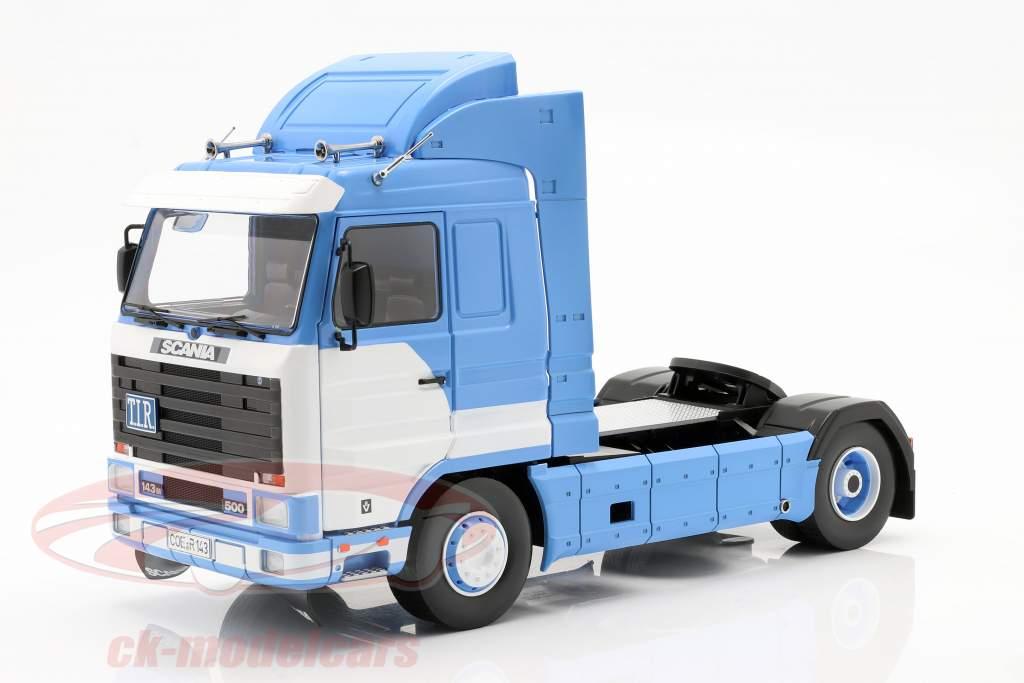 Scania 143 Streamline Sattelzugmaschine Baujahr 1995 blau / weiß 1:18 Road Kings