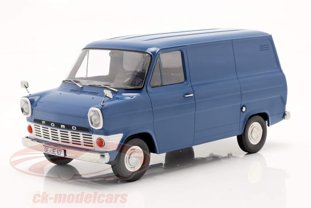 Ford Transit MK1 Lieferwagen Baujahr 1965 blau 1:18 KK-Scale