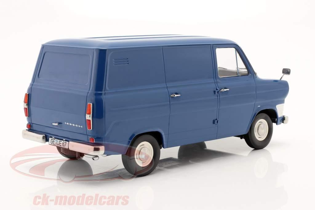 Ford Transit MK1 camioneta Año de construcción 1965 azul 1:18 KK-Scale