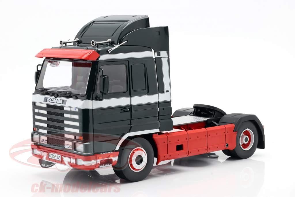 Scania 143 Streamline Sattelzugmaschine 1995 dunkelgrün / rot / weiß 1:18 Road Kings