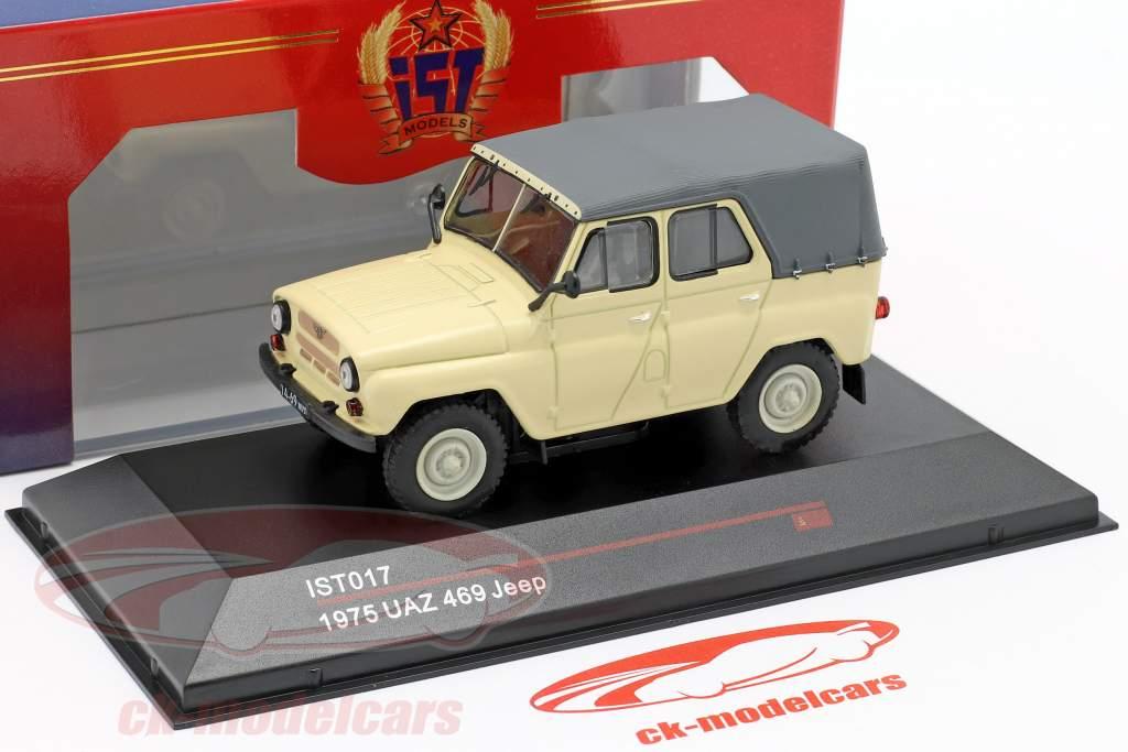 UAZ 469 Jeep Année de construction 1975 beige 1:43 IST-Models