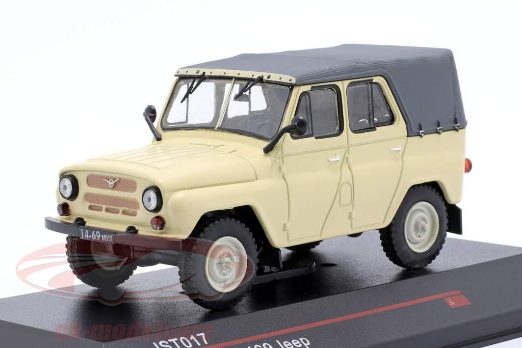 UAZ 469 Jeep Ano de construção 1975 bege 1:43 IST-Models