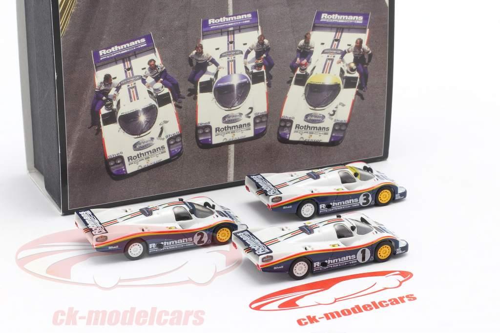 3-Car Set Porsche 956 Rothmans #1 #2 #3 1000km Kyalami 1983 1:87 Brekina