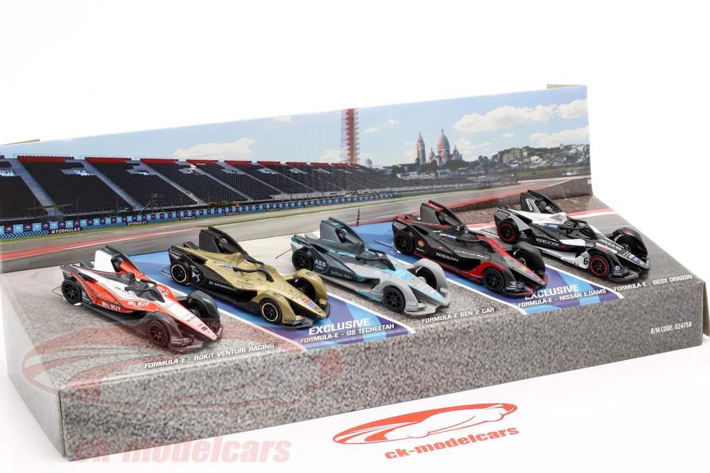 5-Car Set Formel E Gen 2 Geschenkpack 1:64 Majorette