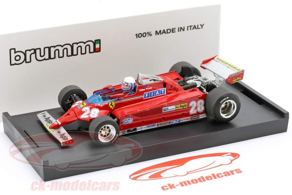 Didier Pironi Ferrari 126CK #28 4th Monaco GP formula 1 1981 1:43 Brumm