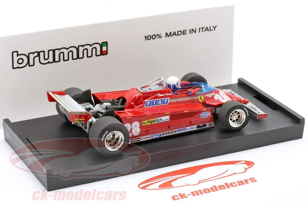 Didier Pironi Ferrari 126CK #28 4. plads Monaco GP formel 1 1981 1:43 Brumm
